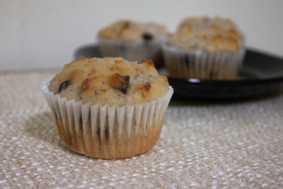 Black Cherry Almond Chocolate Chip Muffins from Square Root of Pie