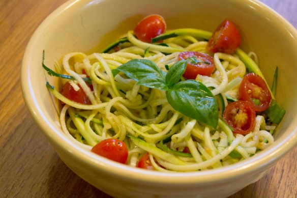 Garlic Lemon Zucchini Noodles from Square Root of Pie